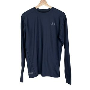 UA Under Armour XL Mens Compression Tactical Fitted Warm Long Sleeve Shirt Black